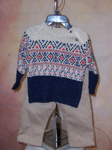ML2590 Boys two piece sweater & pant set