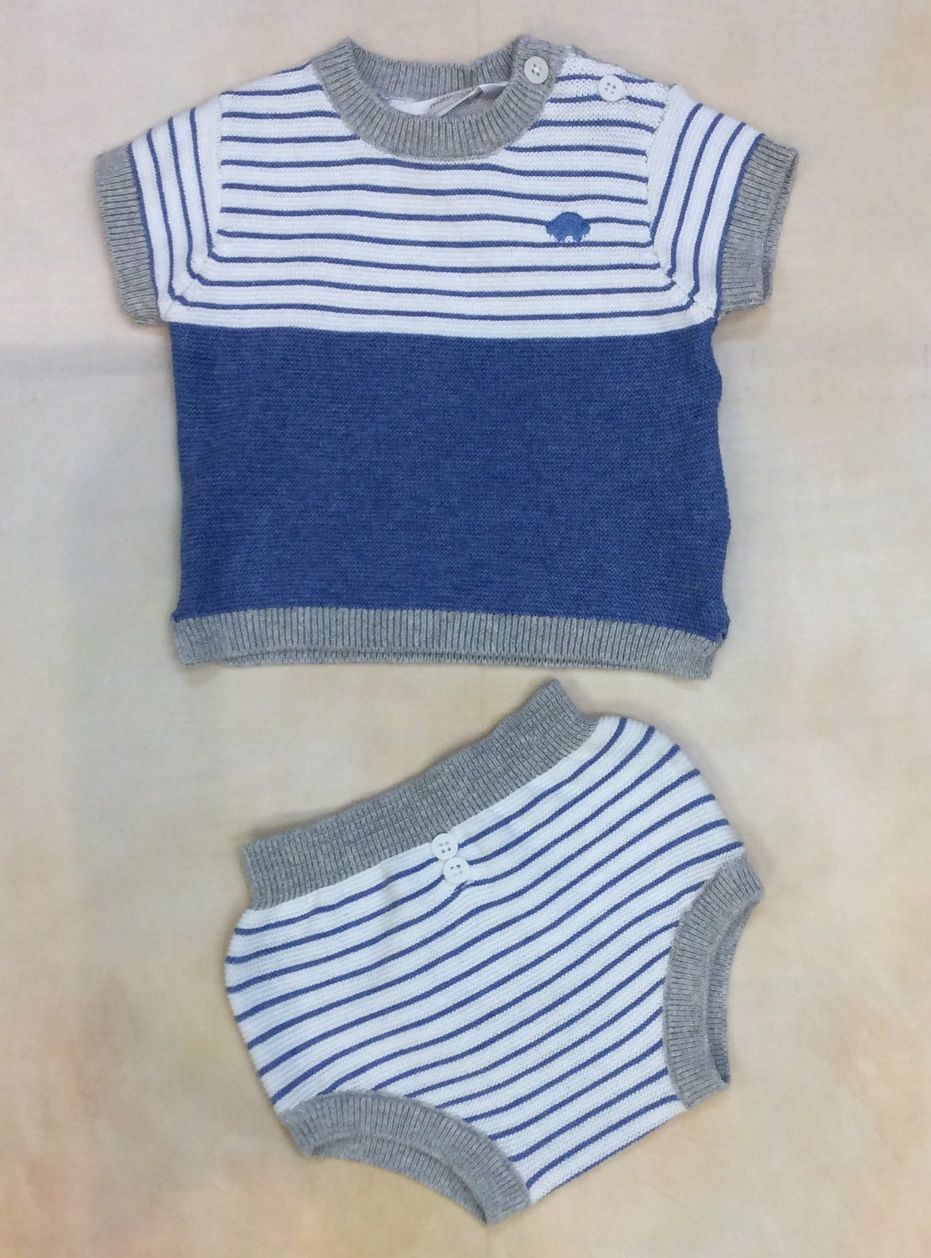 Baby Boy knit short set MY1258 - Nenes Lullaby Boutique Inc
