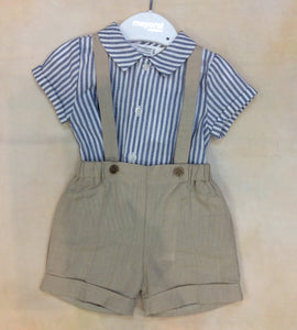Baby Boy Suspender pants and shirt set MY1266
