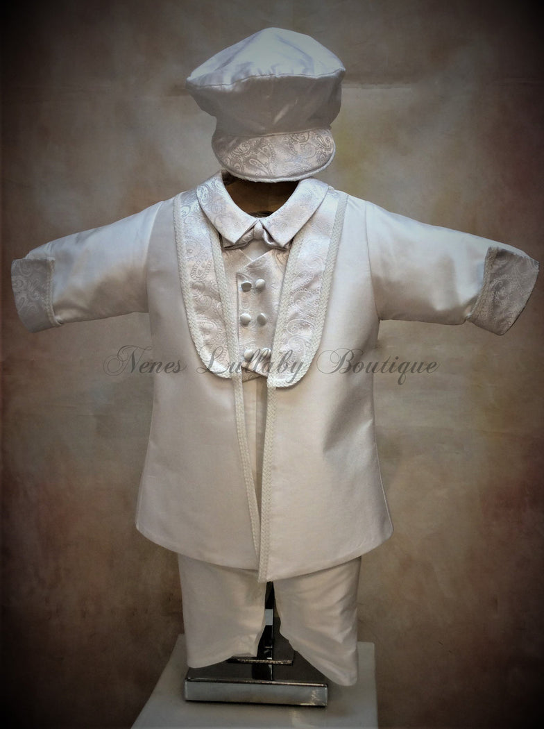 Brian Christening Suit by  Piccolo Bacio PB_Brian_ws_lp - Nenes Lullaby Boutique Inc