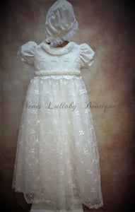 Piccolo Bacio Girls Christening gown Clara - Nenes Lullaby Boutique Inc