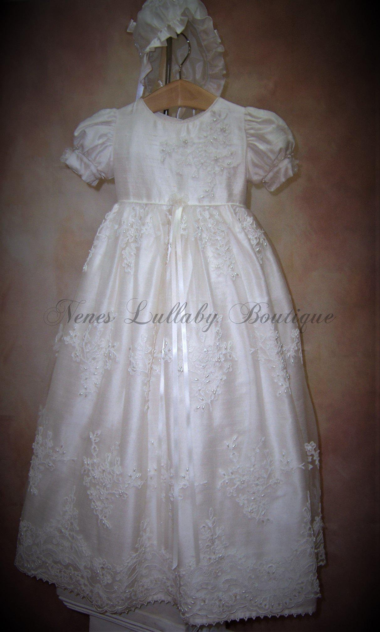 Piccolo Bacio Girls Christening gown Katrina - Nenes Lullaby Boutique Inc