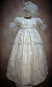 Piccolo Bacio Girls Designer Christening Gown Laura