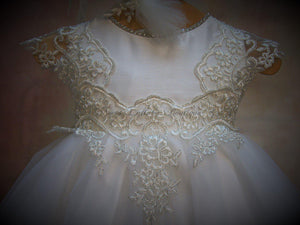 Magdalena Christening Gown by Piccolo Bacio - Nenes Lullaby Boutique Inc