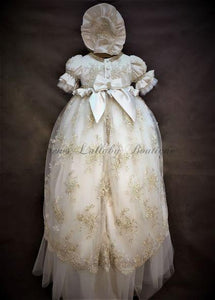 Piccolo Bacio Girls Christening Gown Sabrina - Nenes Lullaby Boutique Inc