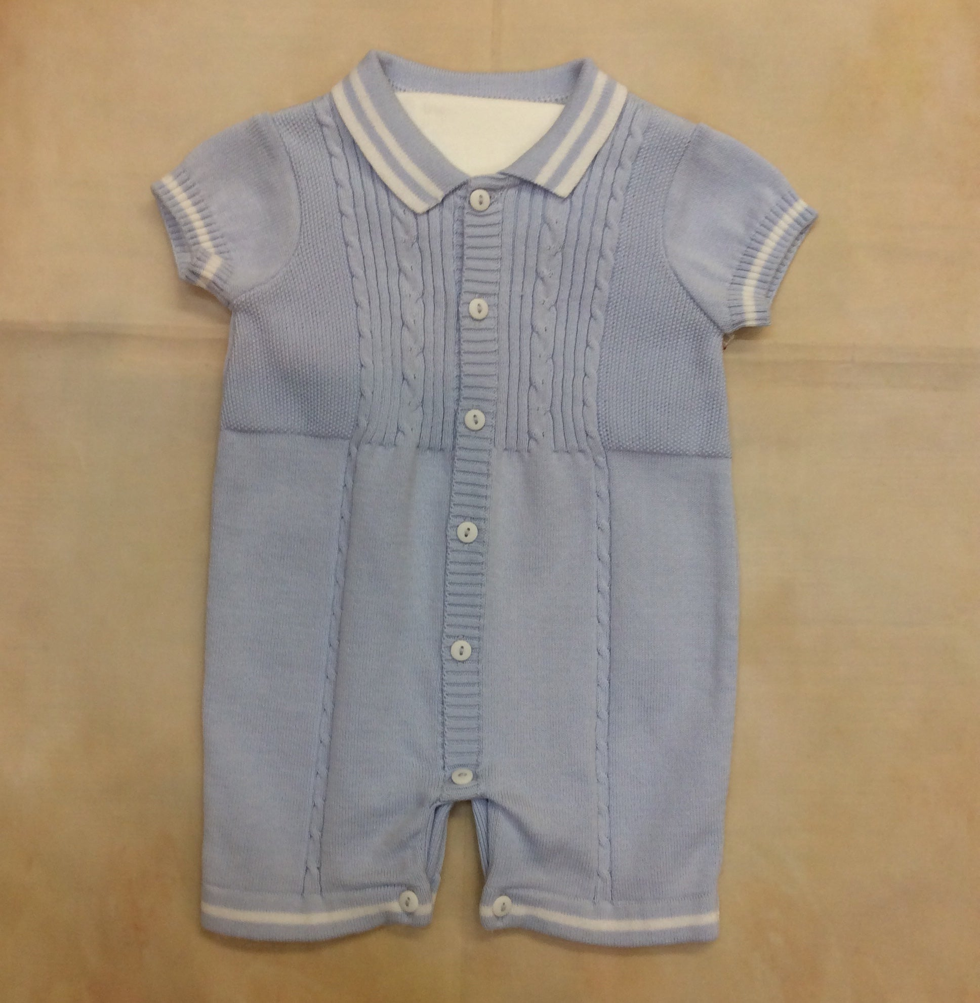 SL008082B Boys sky blue fine summer knit