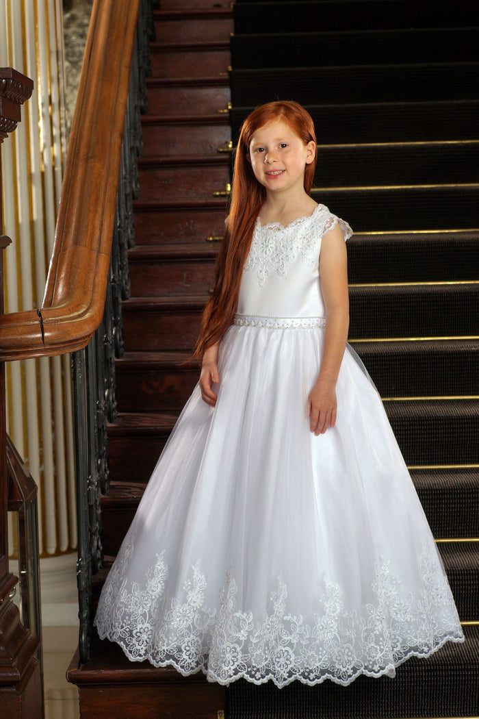 Sweetie Pie 1st Communion Dress Style #SP4006T Tea Length