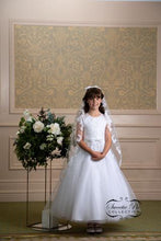 Load image into Gallery viewer, Girl White Communion Dress by Sweetie Pie Style# 4041T - Nenes Lullaby Boutique Inc