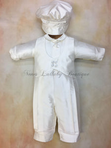 Sal_SK_lS_LP  Christening outfit by Piccolo Bacio