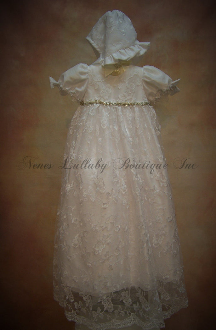 Shannon Christening Gown by Macis Designs - Nenes Lullaby Boutique Inc