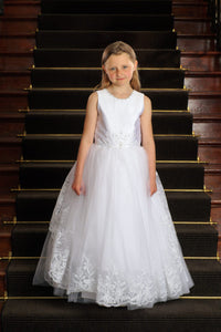 Sweetie Pie Communion Dress Style #SP4026T Tea Length - Nenes Lullaby Boutique Inc
