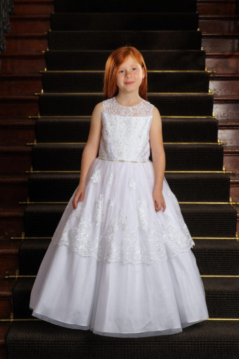 Sweetie Pie Communion Dress Style # SP4029T Tea Length