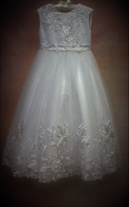 T372 Designer Communion Dress - Nenes Lullaby Boutique Inc