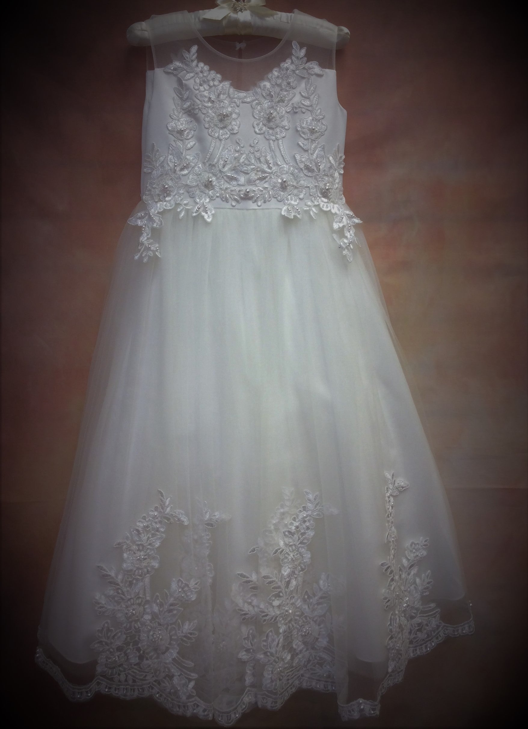 T592 Designer Communion Dress - Nenes Lullaby Boutique Inc