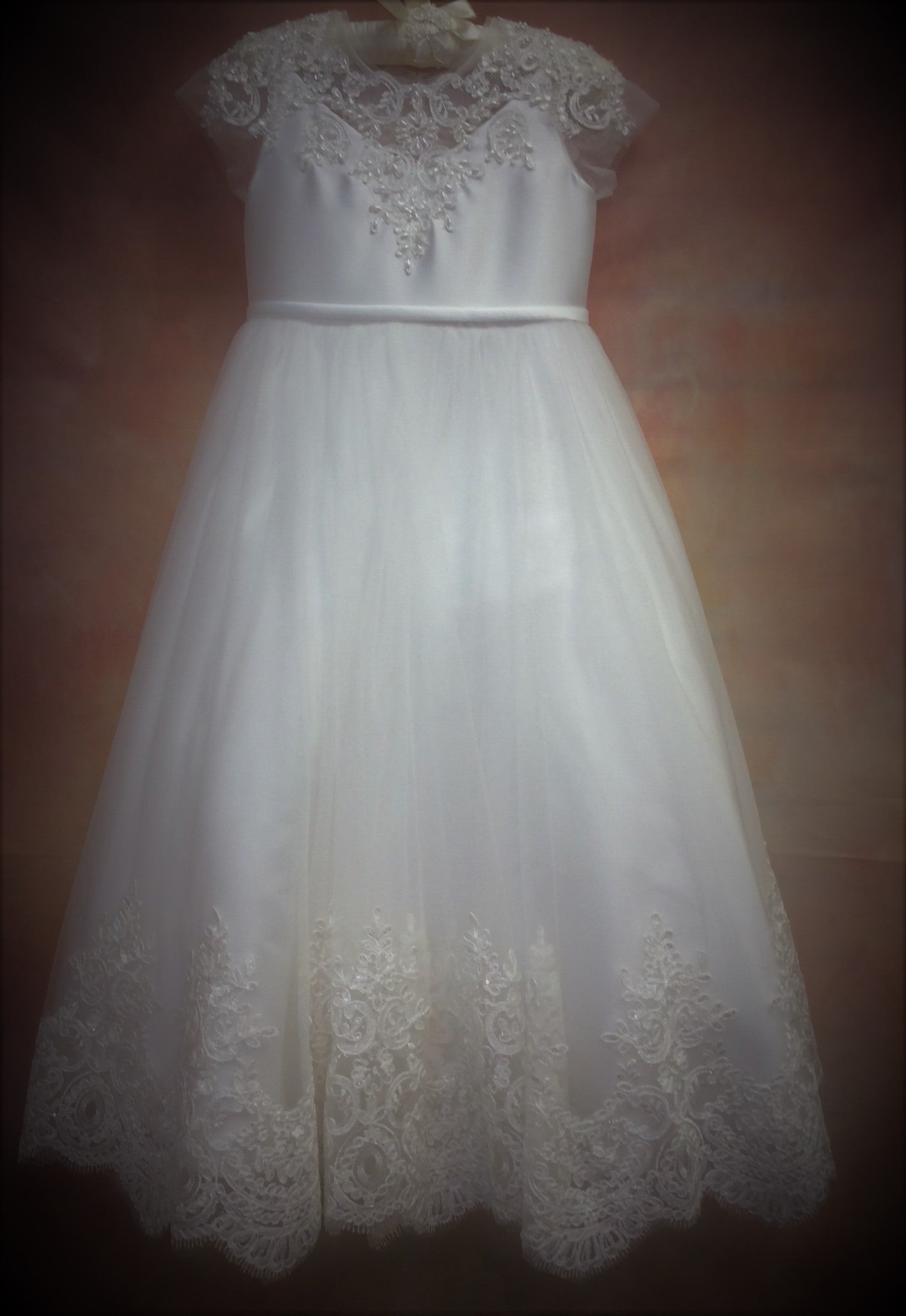 TU61 Designer Communion Dress - Nenes Lullaby Boutique Inc