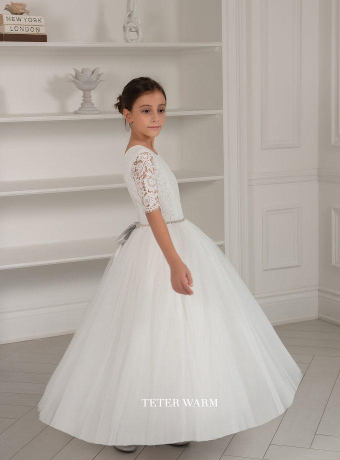Teter Warm 1st Communion Dress TW1-906 - Nenes Lullaby Boutique Inc