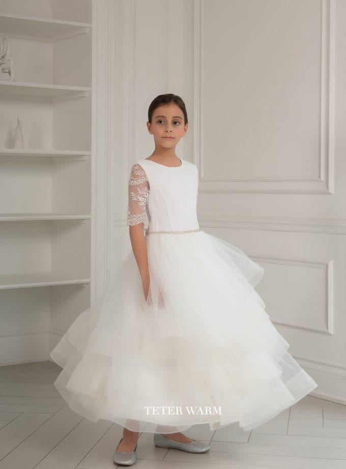 Teter Warm 1st Communion Dress TW -FR06 - Nenes Lullaby Boutique Inc