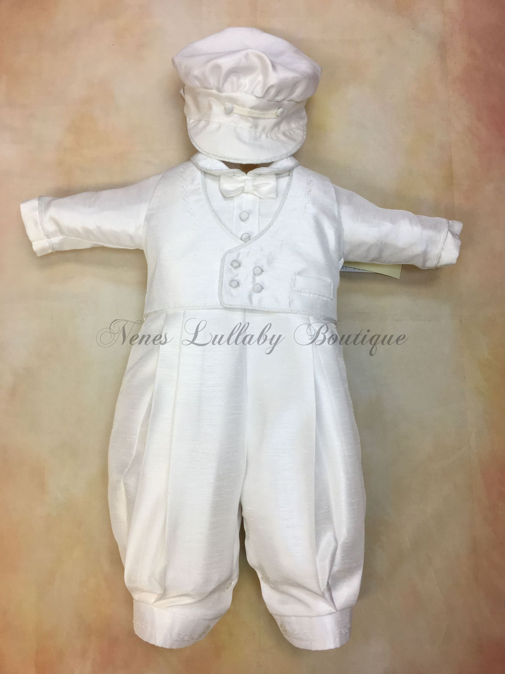 Willie Shantung Christening outfit by Piccolo Bacio PB_Willie_sh_ls_lp