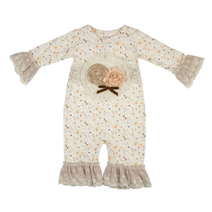 YCC04 C'est Chic Baby Girl Romper by Haute Baby - Nenes Lullaby Boutique Inc