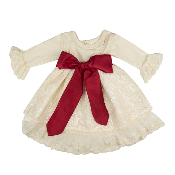 YHS02 Girls Holiday Sparkle Dress by Haute Baby - Nenes Lullaby Boutique Inc