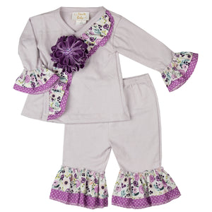 YPP04 PLUM PERFECT BY HAUTE BABY CRISSCROSS SET - Nenes Lullaby Boutique Inc