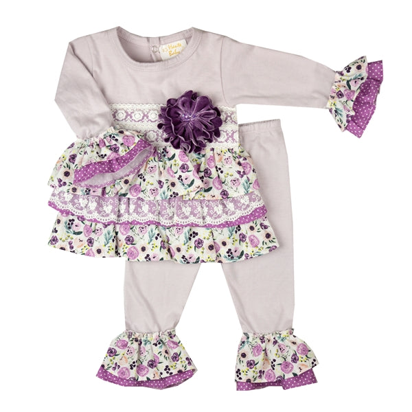 YPP05 Girls Plum Perfect by Haute Baby Swing Set - Nenes Lullaby Boutique Inc