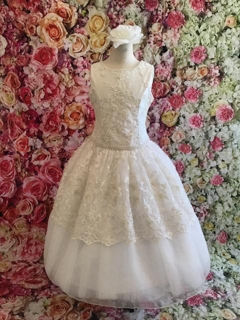 Christie Helene Couture Communion Dress Casey - Nenes Lullaby Boutique Inc