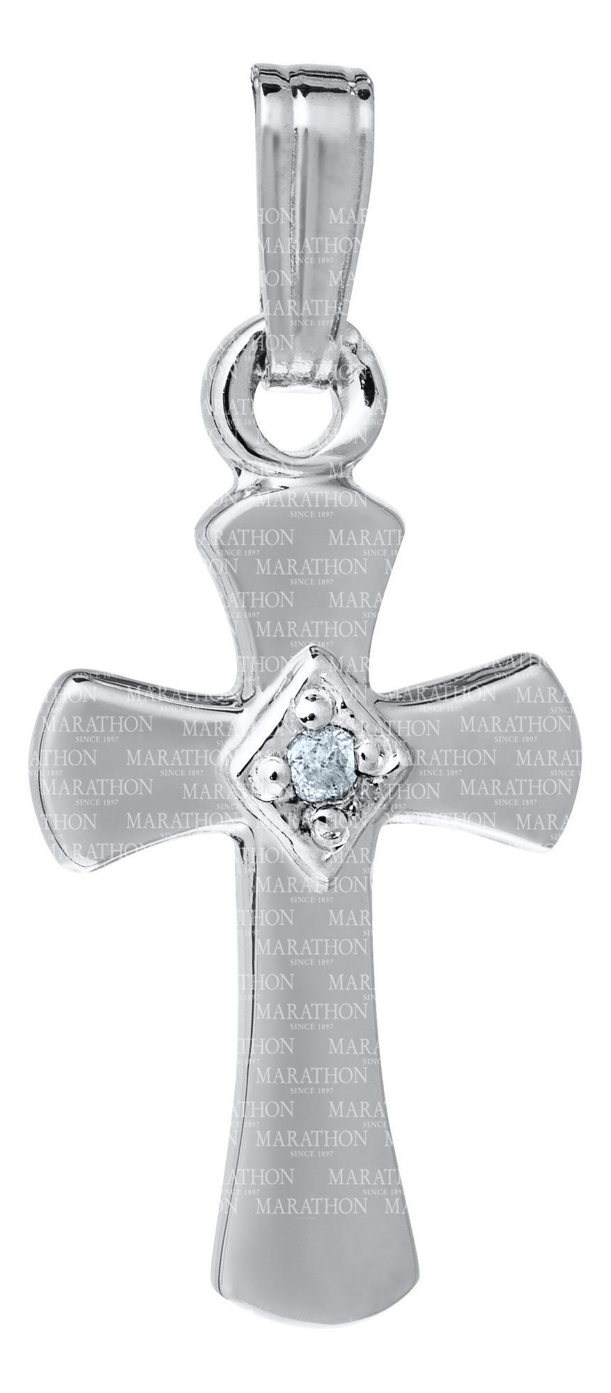 Baby Sterling Silver Cross KKP703 - Nenes Lullaby Boutique Inc