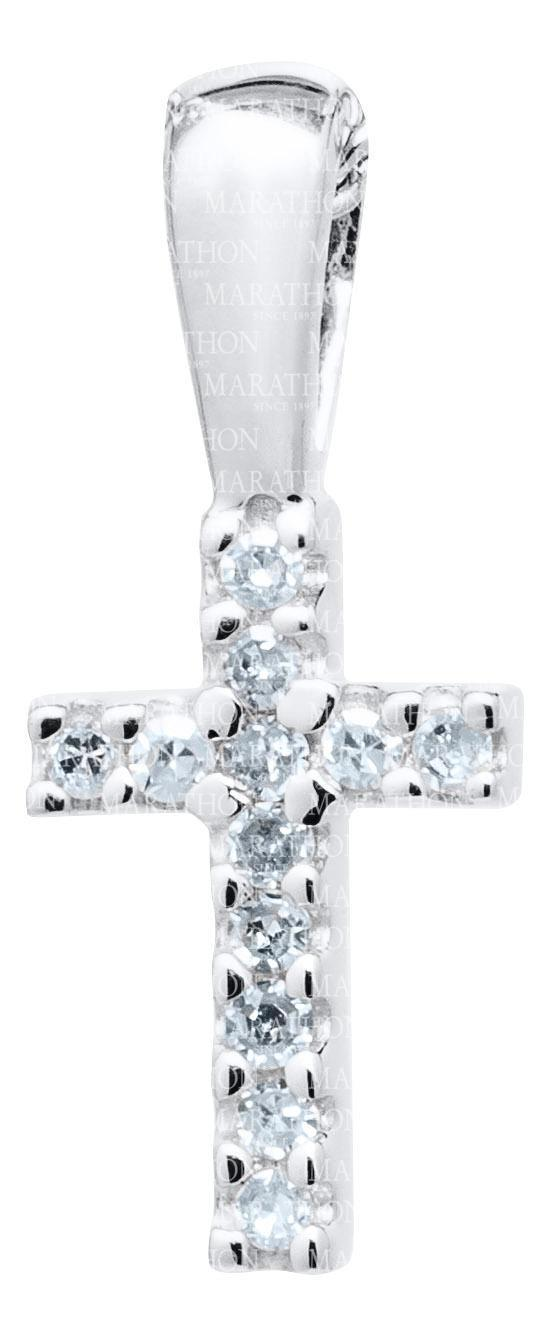 Baby Sterling Silver cross with Diamond KKP721 - Nenes Lullaby Boutique Inc