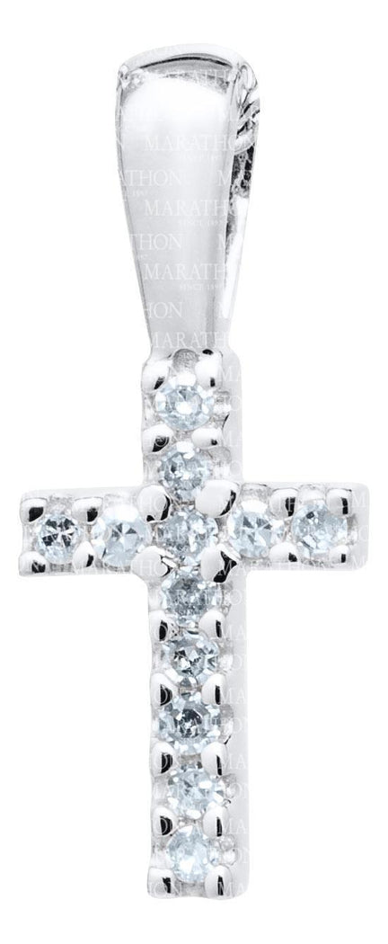 Baby Sterling Silver cross with Diamond KKP721