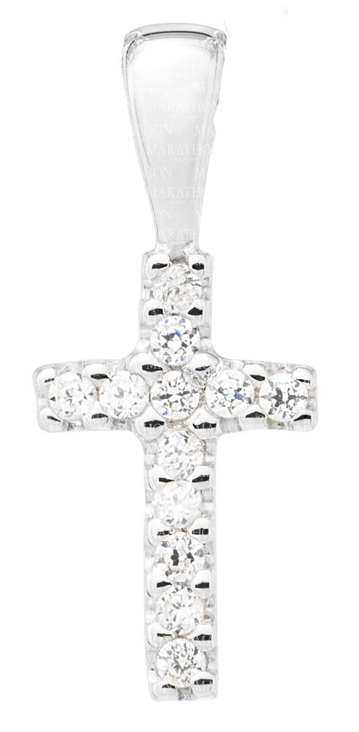 Baby Sterling Silver Cross with cz KKP729
