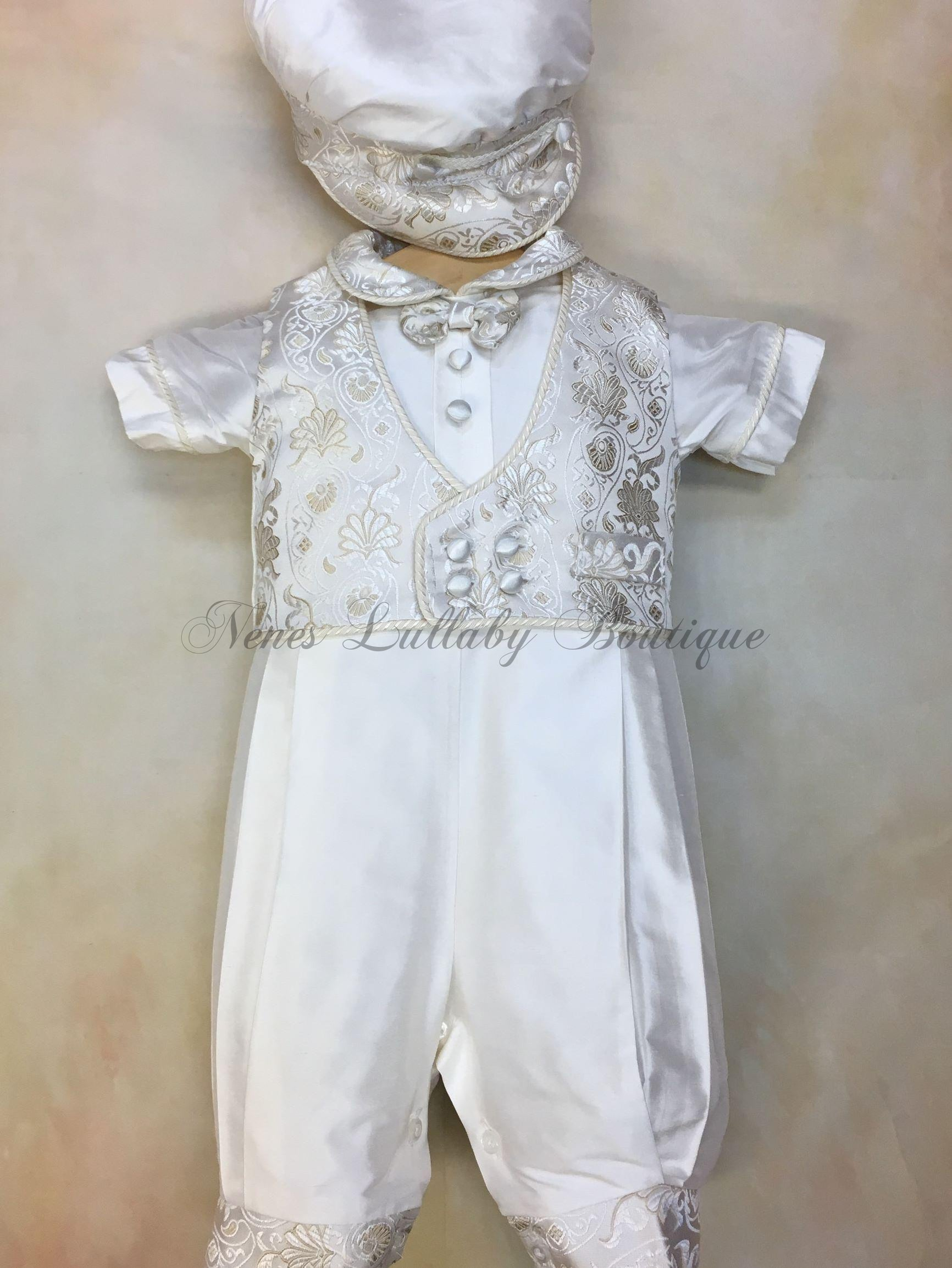 Piccolo Bacio Boyschristening outfit PB_Gianni_ws_ss - Nenes Lullaby Boutique Inc