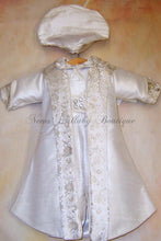Load image into Gallery viewer, Lucas 100% Silk Boys Christening suit by Piccolo Bacio PB_lucas_sk_lp - Nenes Lullaby Boutique Inc