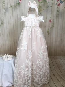 Rosalia Christening gown By Christie Helene Couture
