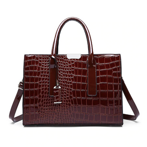 Women  Alligator Leather High Capacity  Bag