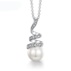 Freshwater White Pearl Pendant  Sterling Silver 925