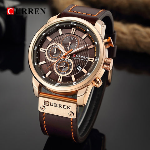 Curren Man Watches  Chronograph Sport Waterproof