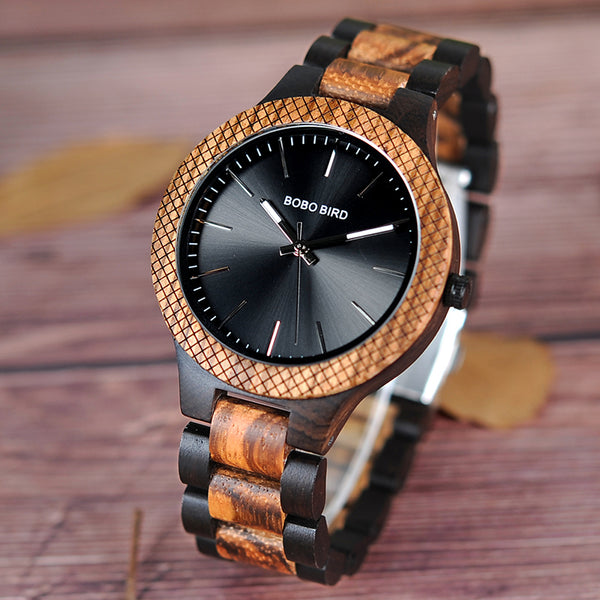 BOBO BIRD Handmade Natural Wood Wristwatch  For  Men