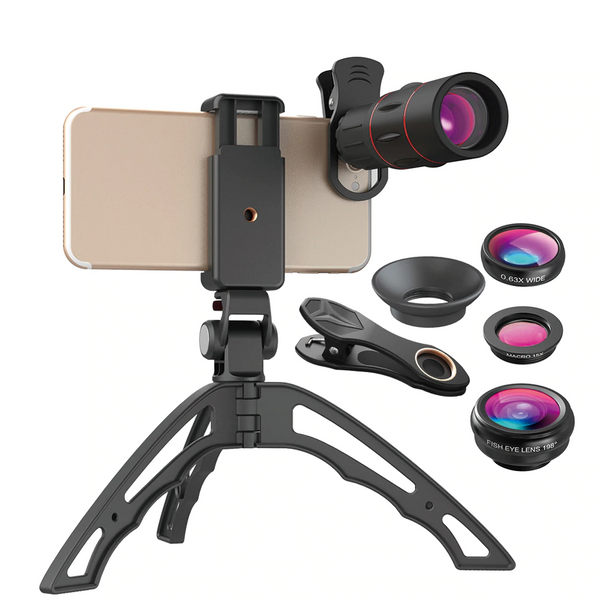 3 in 1 - Monocular  18 x 25 Telescope Lens + Phone Clip + Mini Tripod  For iPhone or Android