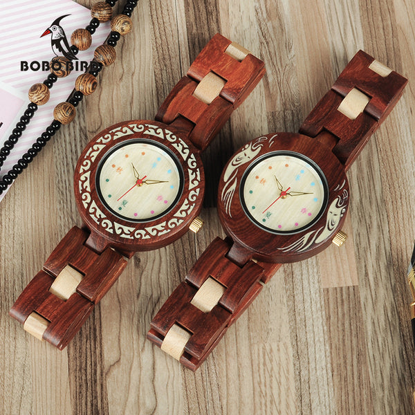 BOBO BIRD Seasons Colors Wooden Watch for Women