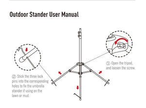 Tripod Outdoor Stand For Car Umbrellas