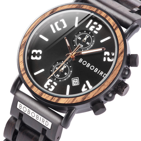 BOBO BIRD Mens Wood Watch