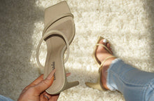 Load image into Gallery viewer, STACY'S LOOK AT ME STRAPPY NUDE BLOCK HEEL