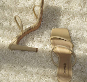 STACY'S LOOK AT ME STRAPPY NUDE BLOCK HEEL
