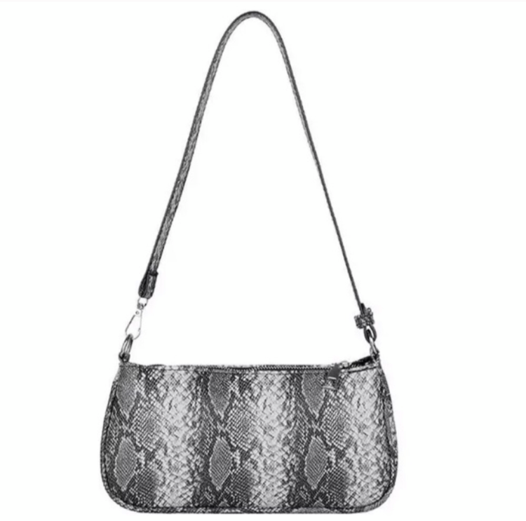 NINA FAUX ANIMAL PRINT HANDBAG- SNAKESKIN