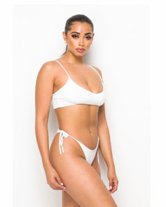 """Lana"" White Two-Piece Bikini Set"