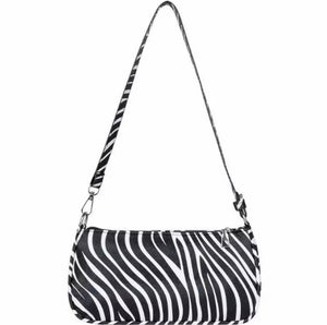 LOOKIN' FAUXY FAUX ANIMAL PRINT HANDBAG- ZEBRA