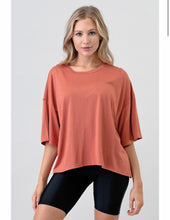 "Load image into Gallery viewer, ""Miley"" Coral Loose Fit Comfy Tee Shirt"