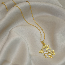 Load image into Gallery viewer, FEELIN' ICY GOLD DRAGON NECKLACE