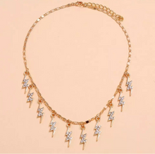 Load image into Gallery viewer, SO STRIKING LIGHTNING RHINESTONE CHOKER